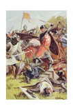 The Battle of Evesham on 4th August 1265, from 'British Battles on Land and Sea' Edited by Sir… Giclee Print by William Barnes Wollen