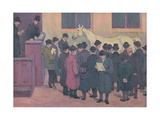 Horse Sale at the Barbican Giclee Print by Robert Polhill Bevan