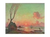 Sunset in Grande Briere, c.1910 Giclee Print by Fernand Loyen du Puigaudeau