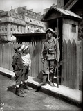 Tonkinese Soldier Holding Guard Near a Radio Station, at the Trocadero, Paris, June 1916 Photographic Print by Jacques Moreau