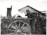 Field Kitchen in a Camp, c.1915 Photographic Print by Jacques Moreau