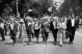 The March on Washington: Marchers Wearing Hats Carry Puerto Rican Flags Down Constitution Avenue,… Photographic Print by Nat Herz