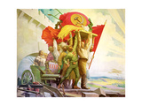 Friendship of the Peoples, 1924 Giclee Print by Stepan Mikhailovich Karpov