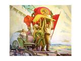 Friendship of the Peoples, 1924 Giclee Print by Stepan Mikhailovich Karpov