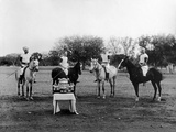 Polo Players in Andra Pradesh, South India Photographic Print by Raja Deen Dayal