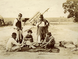 A Friendly Game During the Midday Siesta, Argentina, 1900 Photographic Print by  Argentinian Photographer