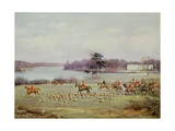 The South Cheshire Hunt in Combermere Park, 1904 Giclee Print by Godfrey Douglas Giles