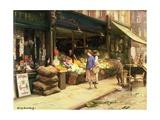 A London Bye Street Giclee Print by Allan Douglas Davidson