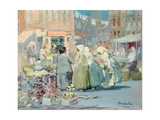 Spring Morning, Houston and Division Streets, New York, 1922 Giclee Print by George Luks