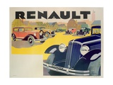 Advertisement for Renault Motor Cars, c.1920 Giclee Print by Emile Andre Schefer