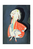"""""""The Lady in Red"""" Giclee Print by Doris Clare Zinkeisen"""