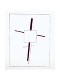 Suprematist Cross, 1920 Giclee Print by Kasimir Malevich