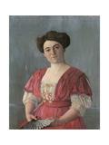 Portrait of Mme Haasen, 1908 Giclée-Druck von Felix Edouard Vallotton