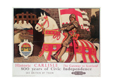 British Rail Poster Advertising 'Historic Carlisle, Gateway to Scotland', 1924 Giclee Print by Maurice Greiffenhagen