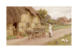 The Donkey Cart, c.1920 Giclee Print by Charles Edward Wilson
