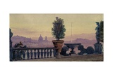 A View of Florence from the Surrounding Hills, 1904 Giclee Print by Ernest Arthur Rowe