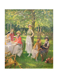 The Tea Party Giclee Print by Jules Cayron