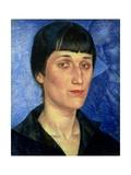 Portrait of Anna Akhmatova (1889-1966) 1922 Giclee Print by Kuzma Sergeevich Petrov-Vodkin