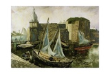 La Ville-Close, Concarneau, Brittany, 1930 Giclee Print by Christopher Wood