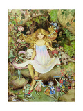 Pansy and the Fairies Giclee Print by Mary Elizabeth Atkins