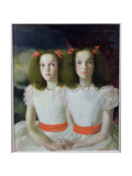 Janet and Anne Johnstone, 1934 Giclee Print by Doris Clare Zinkeisen