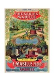 Poster Advertising 'Pressoirs Mabille', at the Exposition Universelle, Paris, 1900 Giclee Print by  French School