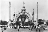 The Monumental Entrance at the Place de La Concorde at the Universal Exhibition of 1900, Paris Photographic Print by  French Photographer