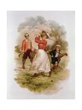 Golfing Giclee Print by Ellen Hattie Clapsaddle