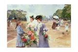 Spring Morning, Avenue Du Bois de Boulogne, 1902 Giclee Print by Louis de Schryver