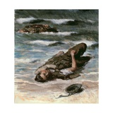 Casualty on the Beach at Dieppe, 1945 Giclee Print by Alfred Hierl