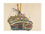 Trieste Fishing Boat, 1912 Giclee Print by Egon Schiele