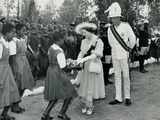 The Queen Mother Receiving a Bouquet, Kenya, 8th February 1959 Photographic Print by Charles Trotter