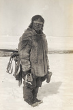 Caribou Eskimo Wearing Snow Glasses Made of Wood, Canada, 1921-24 Photographic Print by Knud Rasmussen