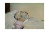 Emperor Franz Joseph I of Austria (1830-1916) on His Death-Bed, 1916 Giclee Print by Franz von Matsch