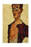 Self Portrait Screaming Giclee Print by Egon Schiele