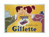 Poster Advertising Gillette Razors Giclée-tryk af Italian School