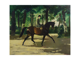 Janet Johnstone Exercising in Rotten Row, London Giclee Print by Doris Clare Zinkeisen