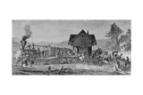 The Village Depot, Illustration from 'Harper's Weekly', 1868, from 'The Pageant of America,… Giclee Print by Edward Lamson Henry