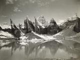 Ice-Needles and Pyramids of the Lower Remo Glacier, Kashmir, 1st January 1915 Fotografisk trykk av Filippo di Filippa