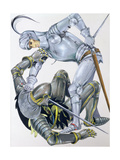 The Big Knight Is Slain by Sir Lancelot, an Illustration for 'Sir Lancelot of the Lake', by Roger… Giclee Print by Janet and Anne Johnstone