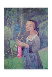 Young Girl with a Pink Stocking or Young Breton Knitting, 1920 Giclee Print by Paul Serusier