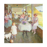 Family Gathering, 1919 Giclee Print by Pauline Palmer