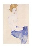Seated Blue Nude, 1911 Giclee Print by Egon Schiele