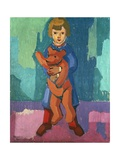 Boy with a Teddy Bear Giclee Print by Axel Torneman