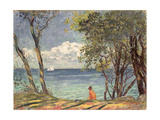 Beside the Water, 1920 Giclee Print by Emile Alfred Dezaunay