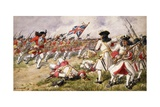 The Battle of Ramillies, the 16th Foot Charging the French Infantry, 1900 Giclee Print by Richard Simkin