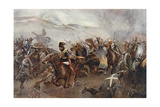 The Charge of the Light Brigade at the Battle of Balaclava on 25th October, 1854, Illustration… Giclee Print by Christopher Clark