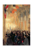 Service in Notre Dame, Giving Thanks for Victory after the Great International War, 1918 Giclee Print by Francis Luis Mora
