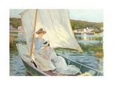 Ladies in a Sailing Boat Giclee Print by Jules Cayron
