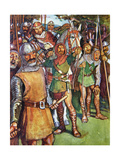 'Locksley Stepped to the Appointed Station and Shot His Arrow', Illustration from 'Ivanhoe for… Giclee Print by Maurice Greiffenhagen